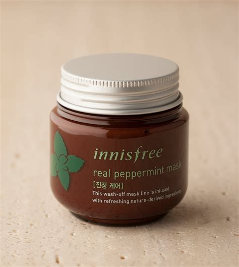 Innisfree Real Peppermint Mask 10gr skin care real peppermint mask innisfree