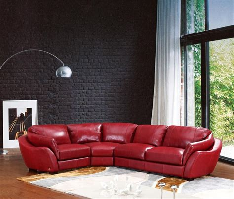 622ang modern italian leather sectional sofa leather