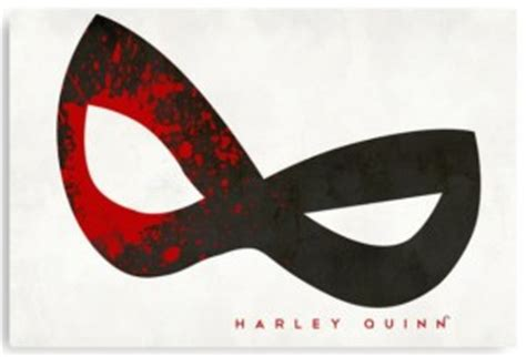 printable harley quinn mask dc comics harley quinn blood splatter mask canvas