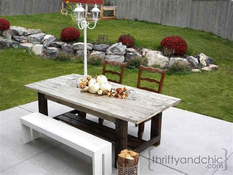 outdoor farm table white outdoor farmhouse table diy projects