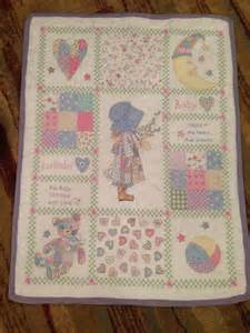 baby cross stitch quilt by jessiesgifts on etsy