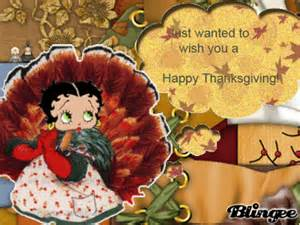 how was thanksgiving created betty boop wishes you a happy thanksgiving picture