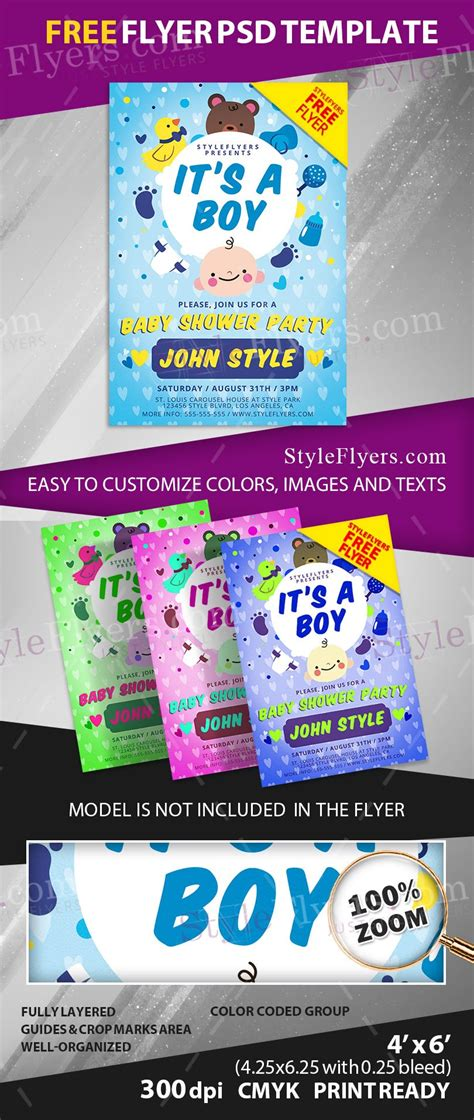 Baby Shower Flyers by Baby Shower Free Psd Flyer Template Free 11008