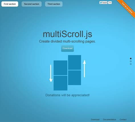 javascript pinterest layout multiscroll js create divided multi scrolling pages