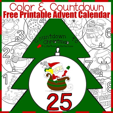 printable christmas tree countdown sweetest christmas keepsake ornaments for kids