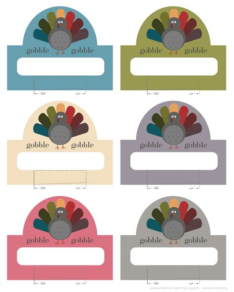Table Place Cards Template Thanksgiving by Thanksgiving Place Cards Free Printable Turkey Place Cards