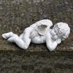 sleeping cherub garden ornament cherubs