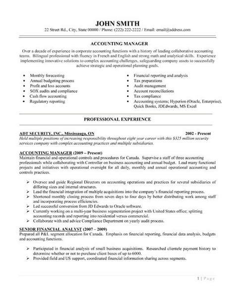 Accounting Office Manager Sle Resume by 1000 Images About Best Accounting Resume Templates Sles On Entry Level