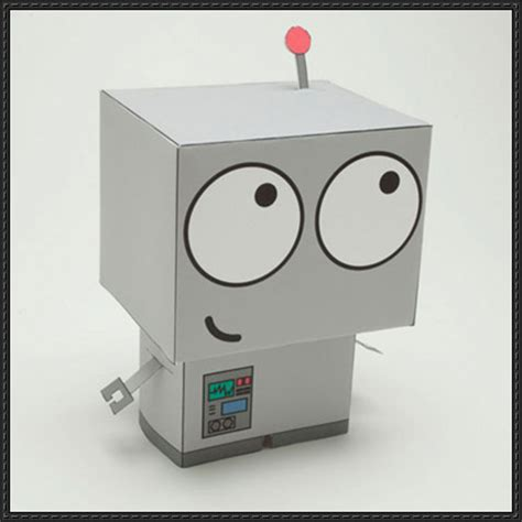 How To Make A Robot Out Of Paper - new paper craft baby robot friend free paper