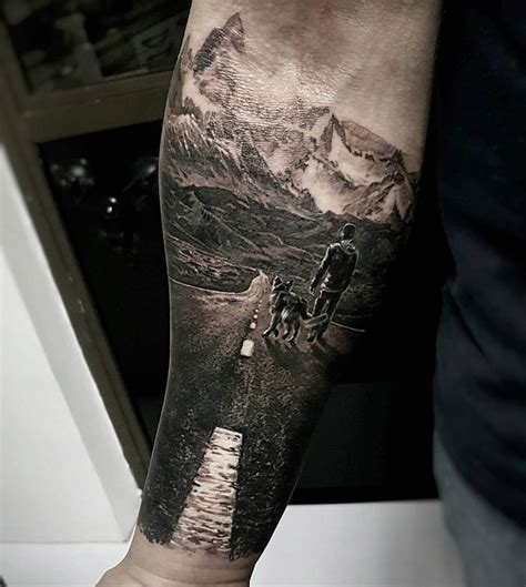 road tattoo the open road best design ideas
