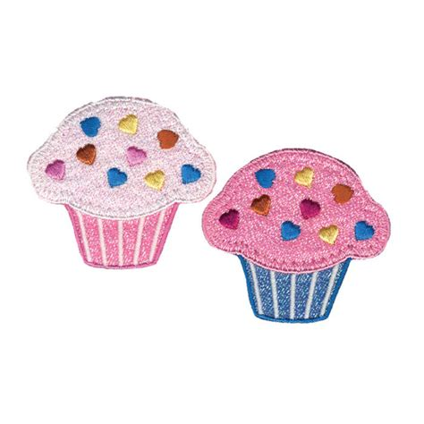 applique iron wrights iron on appliques 2 pkg cupcakes discount