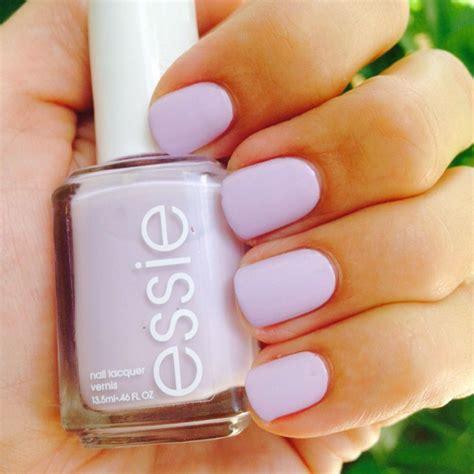 light purple nail polish essie go ginza nail polish gopolished nails