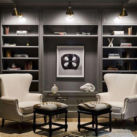 den design navy built in cabinets and shelves cottage den library