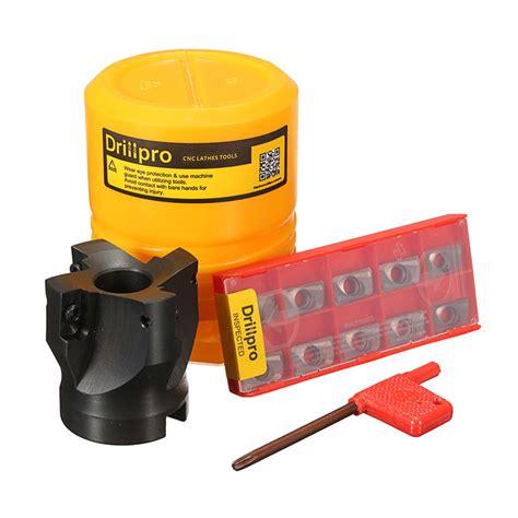 Original Tool Gembok 50mm drillpro 4flute 400r 50mm 22 end mill flat cutter set with apmt1604 carbide insert