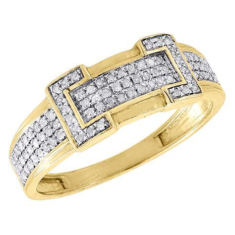 mens diamond wedding ring 10k yellow gold engagement band 1 4 diamond trio set 10k yellow gold ladies engagement ring