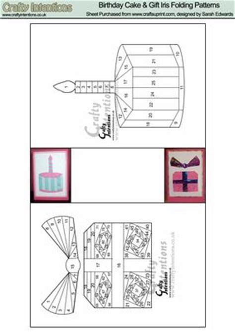 folding amazon printable gift card birthday cake gift iris folding patterns cup12941 172