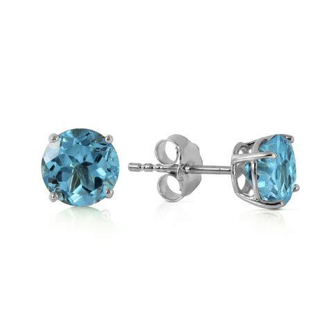 light blue topaz earrings 0 95 carat 14k solid white gold welcome light blue topaz