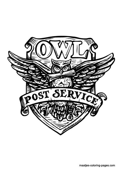 printable owl post owl post hp coloring page still waiting for my hogwarts