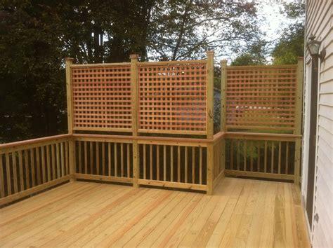 Deck Railing Designs With Lattice - privacy lattice deck railing deck design and ideas