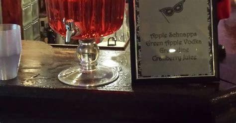 red diamonds signature drink for 60th birthday masquerade