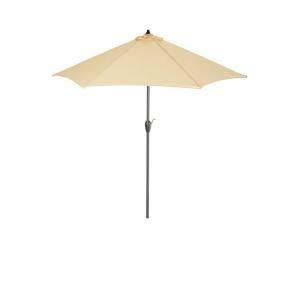 Hton Bay 9 Ft Aluminum Patio Umbrella In Roux Solid Hton Bay 9 Ft Aluminum Patio Umbrella In Sky Blue With