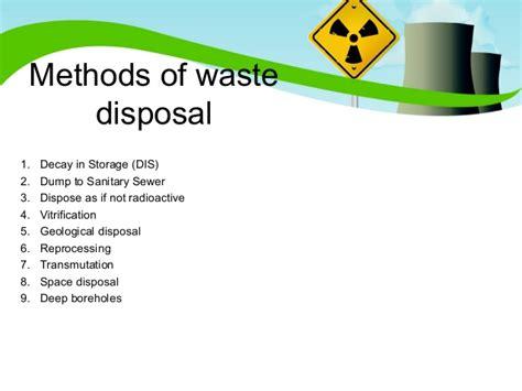 waste removal radioactive waste disposal methods