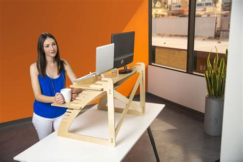 standing portable desk clever portable desks meant to increase comfort and