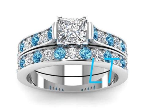Disney's Princess Cinderella Inspired 2.5Cts Swarovski Diamond And Aquamarine Sterling Silver Or