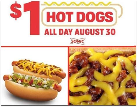 sonic 1 dogs sonic drive in 1 dogs all day today 8 30