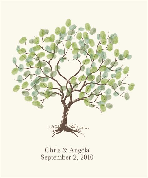 jpm design wedding thumbprint tree