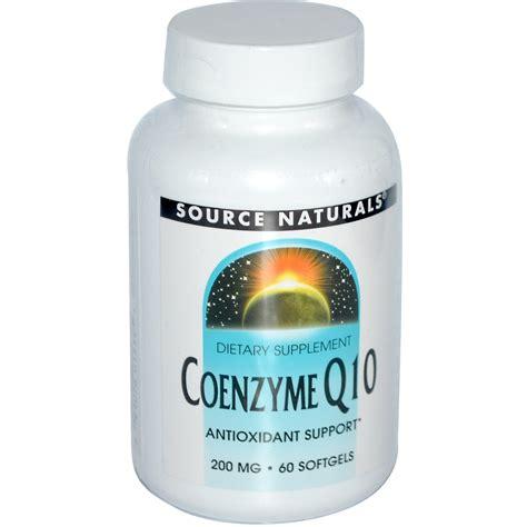Suplemen Q10 source naturals coenzyme q10 200 mg 60 softgels iherb