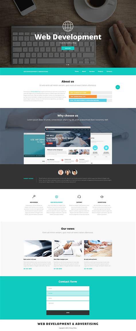 web design  advertising website template