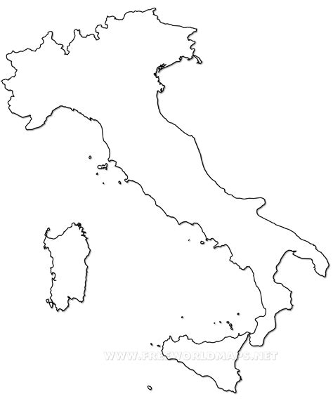 printable maps of italy outline map of italy printable with italy political map