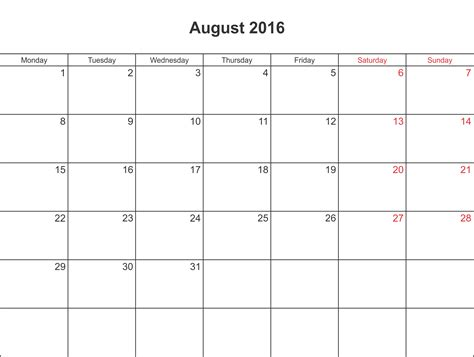 August Kalender 2016 August 2016 Calendar Printable With Holidays Pdf And Jpg