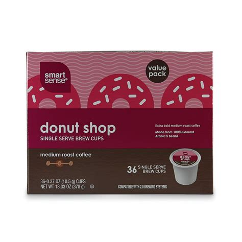 Smart Sense Donut Shop 36 Pack Medium Roast K Cups