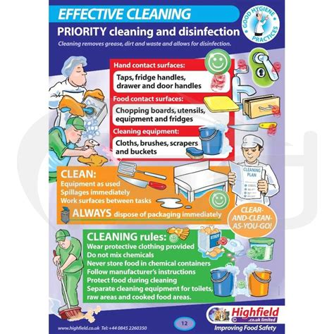 fridge layout poster effective cleaning poster food safety direct