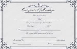 Wedding Certificate Templates Free Printable by Free Printable Marriage Certificate Templates