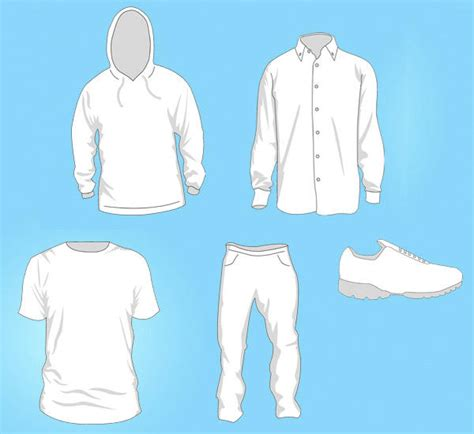 Free Vector Clothing Templates 123freevectors Clothing Design Templates For Photoshop