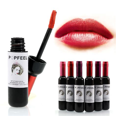 aliexpress buy popfeel wine lip tint matte