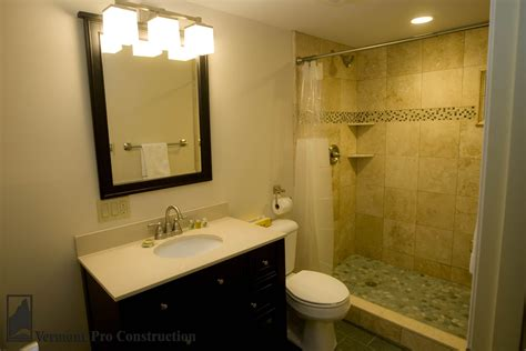 remodeled bathroom showers vermont professional construction painting llc tolchin
