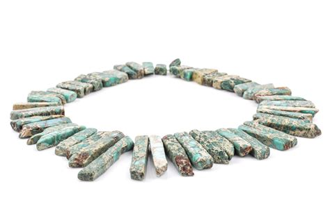 bead stick aqua terra jasper gemstone stick 1 2 quot to 1 1 2