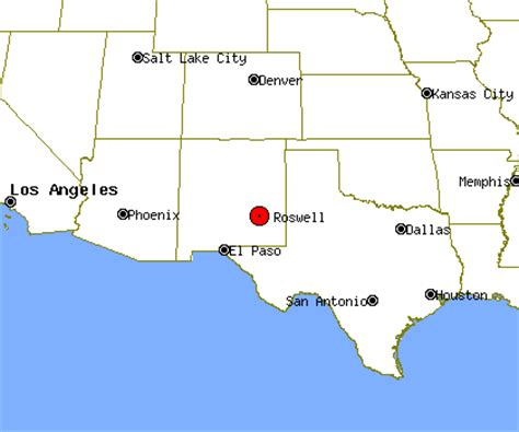 roswell texas map roswell new mexico map
