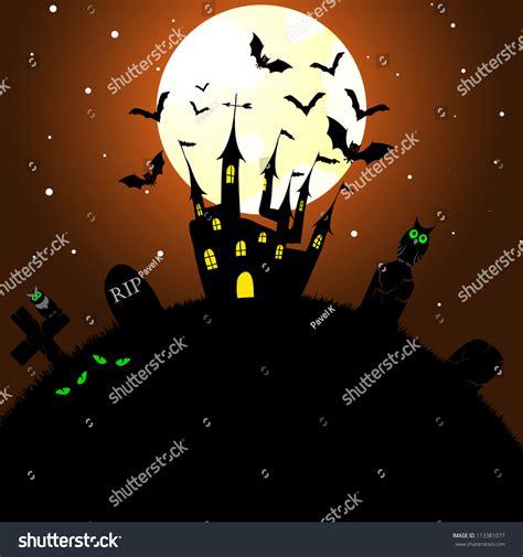 halloween themes vector happy halloween theme greeting card vector stock vector