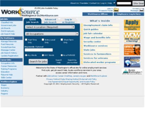 inside worksource resources for washington state gotoworksource com go2worksource com search jobs post