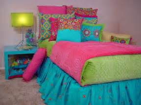 Pink and blue and green bedding lime green and hot pink bedding