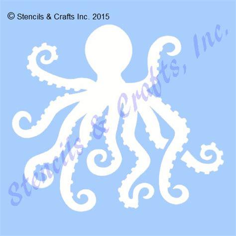Wall Mural Stencils 5 quot octopus stencil ocean nautical stencils sealife sea