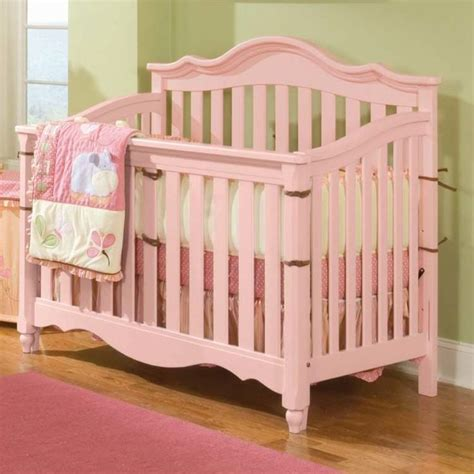Pink Cribs paint crib pink painted nurseries
