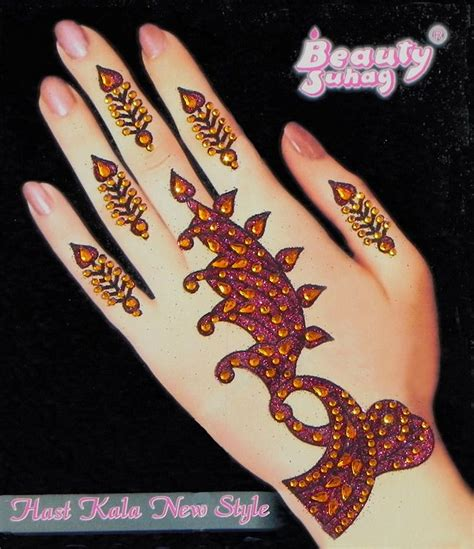 one piece tattoo on hand one piece rust color stone studded hand mehendi
