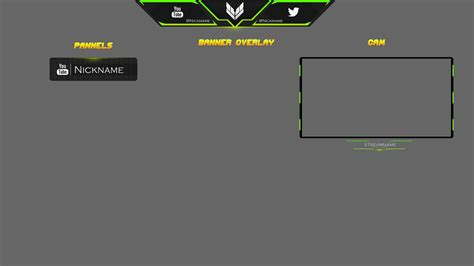 twitch layout template twitch overlay 6