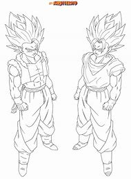 gogeta and vegito coloring pages - Gogeta Coloring Pages